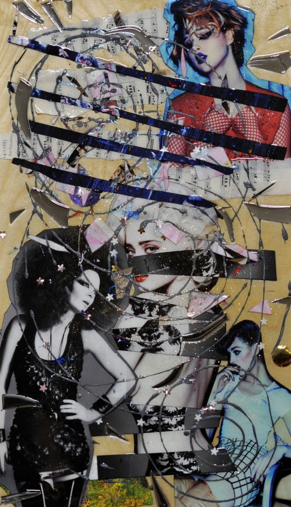 Eighties Vamp - Mixed Media Collage
