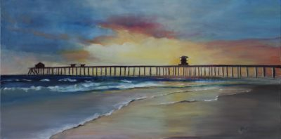 HB Pier - Oil On Canvas