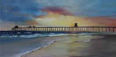 HB Pier - Oil On Canvas