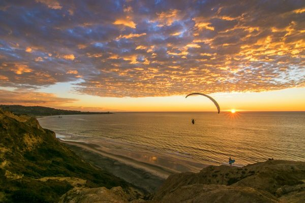 Idyllic La Jolla Glider Port Sunset - Fine Art