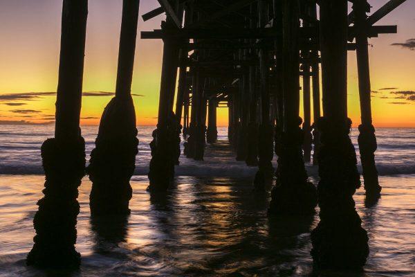 Sunset Under Crystal Pier Fine Art