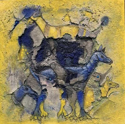 Alvaro Blancarte - Azules y Amarillos - Neo Fresco - Fine Art