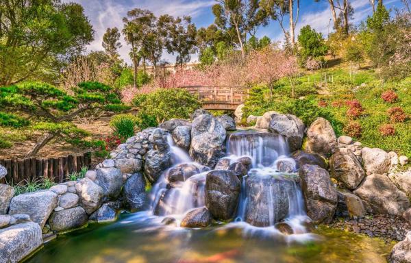 Balboa Park's Zen Waterfall