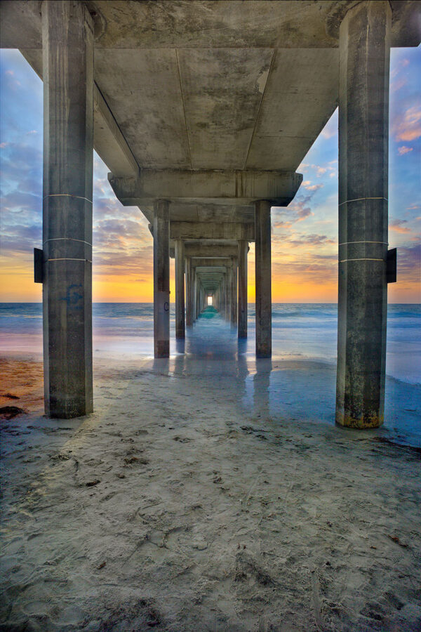 Contemporary fine art photography of Scripps Pier in San Diego by photographer Michael James Slattery