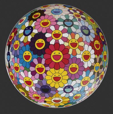 Takashi Murakami's famous contemporary art piece Flower Ball