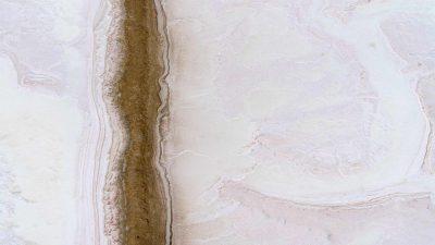 Fine art aerial photography of salt flats by Tom Lamb